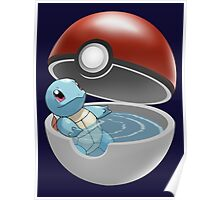 Squirtle Pokeball Poster