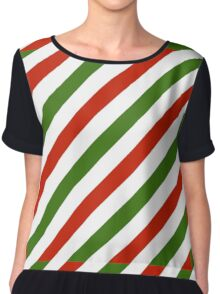 Candy Cane Christmas Chiffon Top