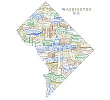 Washington DC Polaris Photographic Print