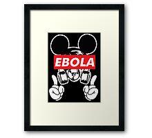 Mickey Mask Ebola Framed Print
