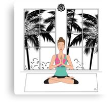 Yoga Girl... Canvas Print