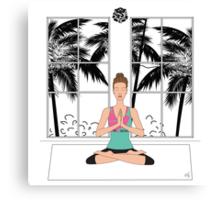 Yoga Girl... Canvas Print