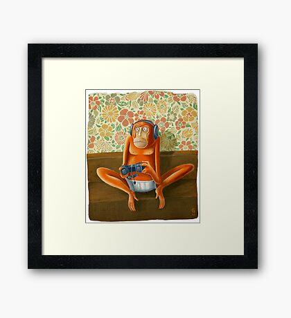 Monkey play Framed Print