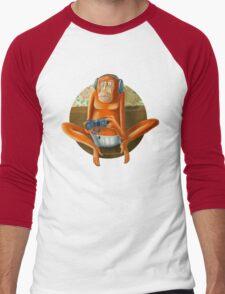 Monkey play Men's Baseball ¾ T-Shirt