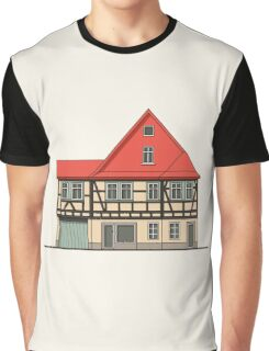 Half-timbered house with red roof Graphic T-Shirt