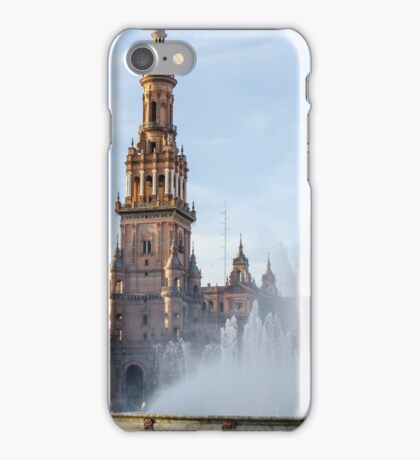 Plaza de Espana and its fountain  iPhone Case/Skin