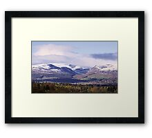 First Snows, Strathearn Framed Print