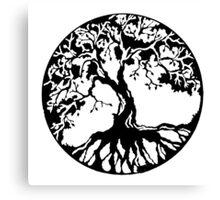 Tree of life (black) Canvas Print