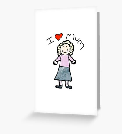 mother's day card cartoon Greeting Card