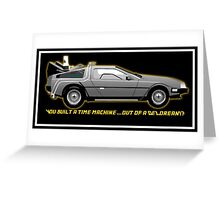 Back to the Future delorean time travel machine Greeting Card