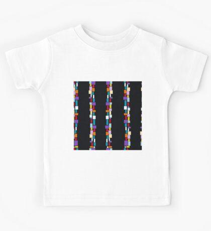 geometric colorful pattern Kids Tee