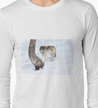 Mmm, that human tasted good - Timber wolf! Long Sleeve T-Shirt