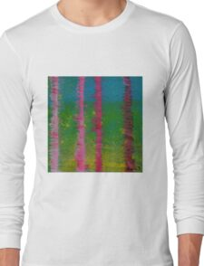 Birch Trees In The Wind Long Sleeve T-Shirt