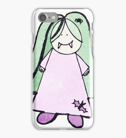 child's drawing of a vampire girl iPhone Case/Skin