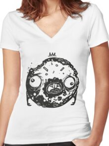 Zombie Donut - by Mien Wayne Women's Fitted V-Neck T-Shirt