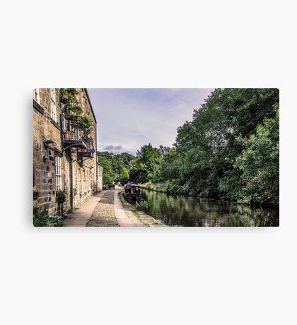 Hebden Bridge - Canal Side Canvas Print