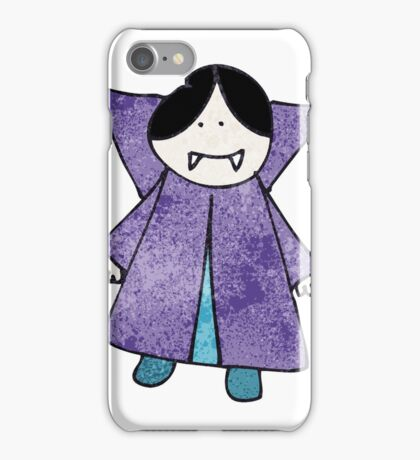 child's drawing of a vampire iPhone Case/Skin