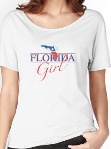Florida Girl - Red, White & Blue Graphic Women's Relaxed Fit T-Shirt