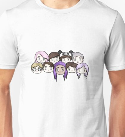 Minecraft Youtubers Unisex T-Shirt