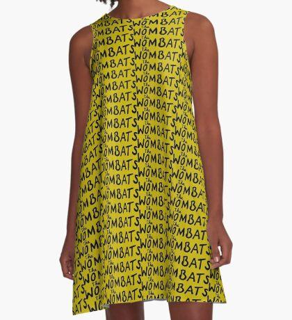 The Wombats Unique Logo Design A-Line Dress