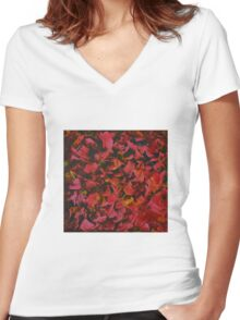 Roses Women's Fitted V-Neck T-Shirt