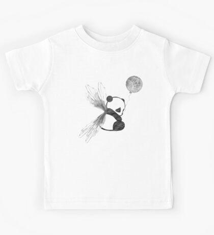 Space Angel Panda Bear Kids Tee