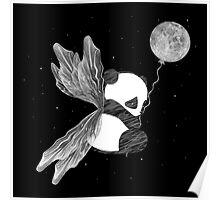 Space Angel Panda Bear Poster
