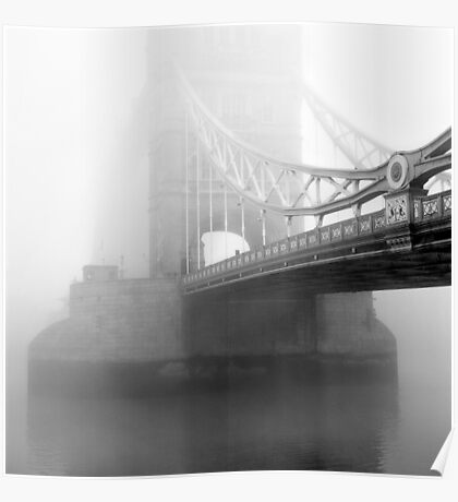 London Bridge in Fog Poster