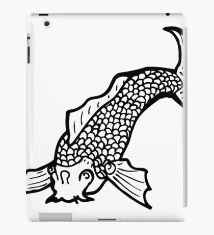 black and white japanese fish tattoo iPad Case/Skin
