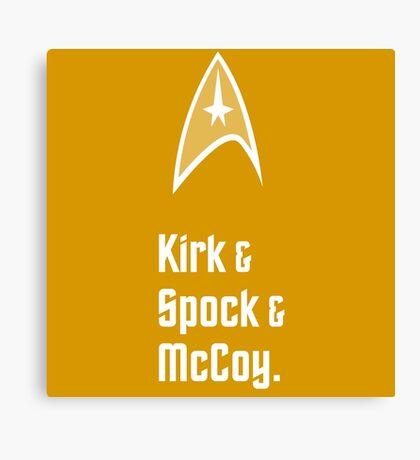 Trek Star Kirk Spock McCoy TOS Enterprise Canvas Print