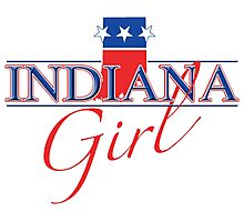 Indiana Girl - Red, White & Blue Graphic Photographic Print