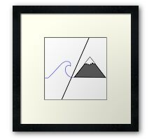 Sea / Mountain   Framed Print