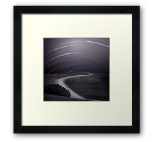 Night Sky Over Path Framed Print