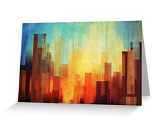 Urban sunset Greeting Card