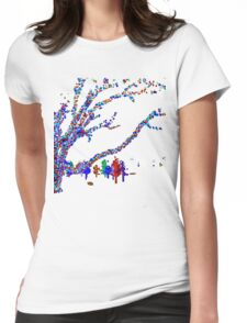 Colorful Trees  Womens Fitted T-Shirt