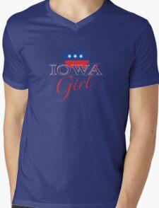 Iowa Girl - Red, White & Blue Graphic Mens V-Neck T-Shirt