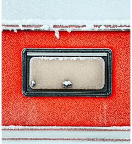 Closeup of Frozen Caravan Window Sticker
