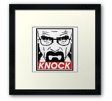 Heisenberg Breaking Bad Fanart - Knock by Mien Wayne Framed Print