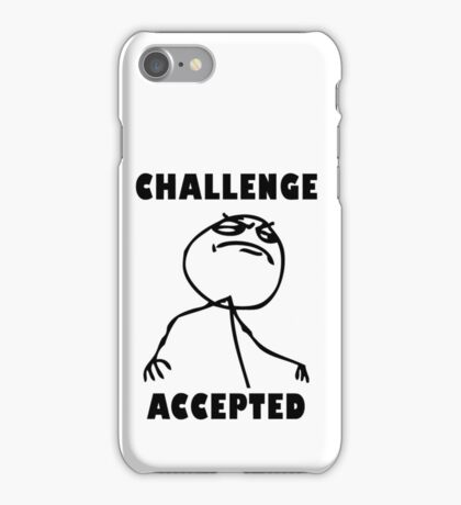 9 gag - Challenge accepted iPhone Case/Skin