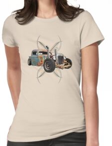 Pinstripe Pipes Womens Fitted T-Shirt