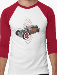 Pinstripe RAT 505 Men's Baseball ¾ T-Shirt