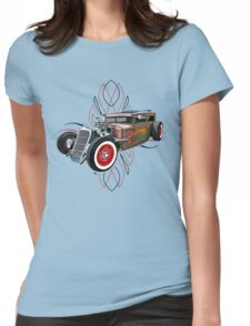 Pinstripe RAT 505-a Womens Fitted T-Shirt