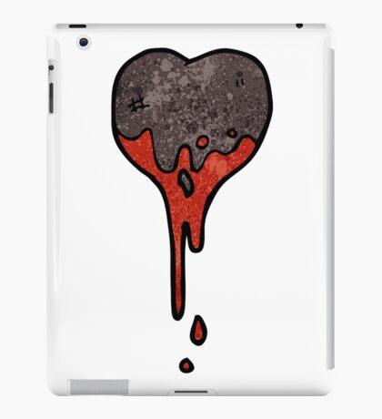 cartoon black heart symbol iPad Case/Skin