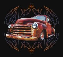 Pinstripe Rust Truck Kids Clothes