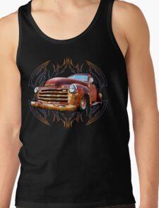 Pinstripe Rust Truck Tank Top