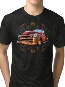 Pinstripe Rust Truck Tri-blend T-Shirt