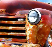 Pinstripe Rust Truck Sticker