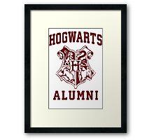 Hogwarts Alumni | Harry Potter Hogwarts Quote Shirt, Hogwarts Seal, Hogwarts Crest Framed Print