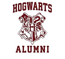 Hogwarts Alumni | Harry Potter Hogwarts Quote Shirt, Hogwarts Seal, Hogwarts Crest Photographic Print