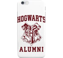 Hogwarts Alumni | Harry Potter Hogwarts Quote Shirt, Hogwarts Seal, Hogwarts Crest iPhone Case/Skin